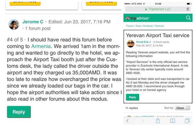 Պաշտպանենք տուրիստներին օդանավակայանի տաքսիստների խարդախությունից